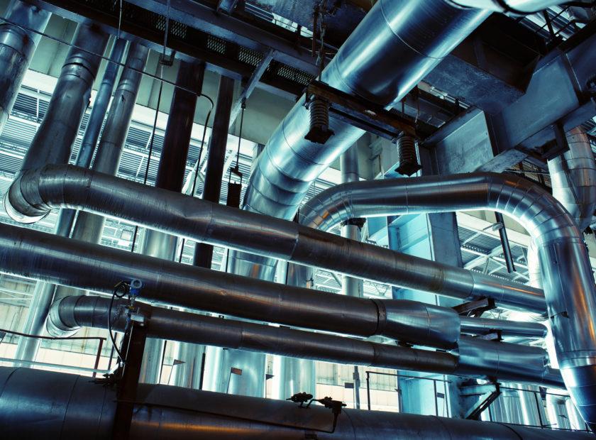 Ventile und Rohrleitungen im Kraftwerk